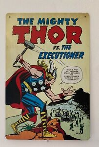 Thor Blechschild 30cm x 20cm Superheld Marvel Retro Vintage Nostalgie