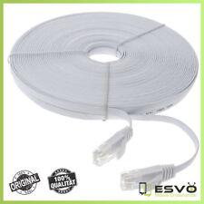 30 Meter Netzwerkkabel Patchkabel CAT6 DSL Flach Netzwerk Lan Internet Kabel