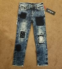 NWT True Religion Boys Rocco Patch/Distressed Single End Jeans, Size 6