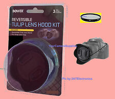 REVERSIBLE HOOD+UV+CAP 67mm to PANASONIC DMC-L10 L1 L1K DVX102 DVC80 AG-DVX100 B