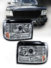 Set of Halo Projector Headlights w/ LED Parking Lights for 92-96 Bronco F150