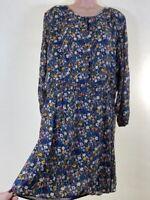 BNWOT NEXT ditsy floral garden print chiffon long sleeve tea dress PLUS SIZE 20