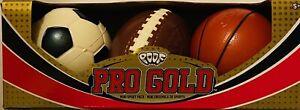 Poof Pro Gold Mini Sport Pack Football Basketball Soccer Kids Foam Toys
