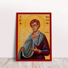 Saint Apostle the Young byzantine orthodox icon handmade