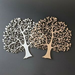 Family Tree Blank - Laser Cut White-Faced 3mm MDF for Art and Craft Projects