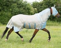Gallop Mesh Full Neck Combo All In One Pony Fly Rug Belly & Tail Flap FREE MASK