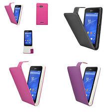 Hülle für sony Xperia E4G Flip PU Leder in Verschiedene Farben Tasche Telefon