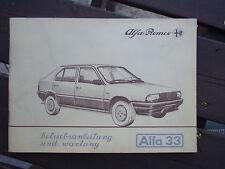 ALFA 33 Original Betriebsanleitung 1983