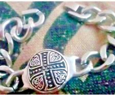 New Unisex Stainless Celtic Cross Heavy Chain Bracelet