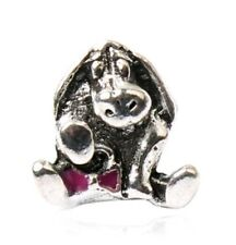 Silver plated whinnie the pooh, Eeyore European charm bead. Pandora's Vault inc