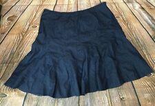 Plus Size 24 Denim Blue Jean Trumpet Skirt Calf Length Modest 24W 3X Westbound