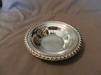 International Silver Small Round Serving Bowl Silverplated Scroll Edge (M)
