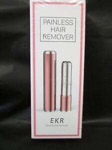 EKR PAINLESS HAIR REMOVER PINK SHAVER UPPER MUSTACHE LIP CHIN NIB