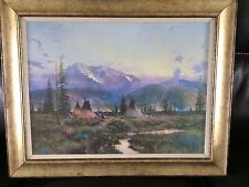"""Thomas Kinkade Limited Edition Double Signed Framed Canvas """"Days of Peace"""""""