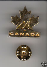 LOT 10x TEAM CANADA Hockey Logo GOLD-COLOURED METAL HAT LAPEL PIN Men's Women's