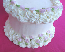 64 Edible Mini Pink Rosebuds Sugar Icing Cake Cupcake Toppers  Baby Shower Cakes