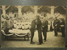 cpa photo guerre 1914 militaire remise decorations blessé