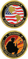 OEF ENDURING FREEDOM FIGHTING TERROR CHALLENGE COIN
