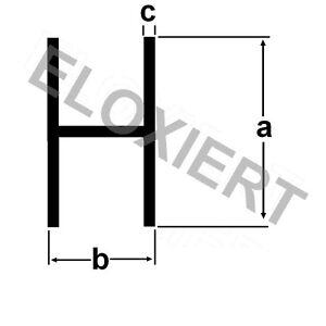 Alu H-Profil ELOXIERT 1 Meter E6/EV1 Aluprofil Aluminium Aluminiumprofil