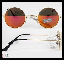 Occhiali Da Sole Uomo Donna Cool Fashion Lenti Tonde Specchio Marrone MILANO