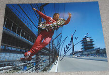 INDY CAR HELIO CASTRONEVES SIGNED 8X10 PHOTO INDIANAPOLIS 500 CHAMPION W/COA