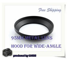 New 95mm Screw-in Metal Lens Hood For Wide angle Lens camera lens hoods