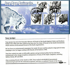 2006 ICE AGE ANIMALS HAND SIGNED FOTEs TONY JUNIPER BENHAM FIRST DAY COVER SHS