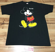 NEW NWOT VTG 80s 90s Mickey Mouse Florida Disney World Land Black T Shirt USA L