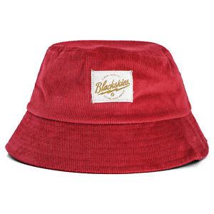 Blackskies Crimson Bucket Hat Unisex Sunhat Fishing Hat Wine Red Cord Summer
