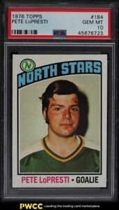 1976 Topps Hockey Pete Lopresti #184 PSA 10 GEM MINT
