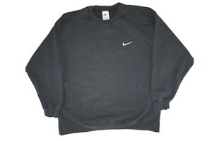 Vintage 90s Nike White Tag Embroidered Small Swoosh Sweatshirt Men's Large
