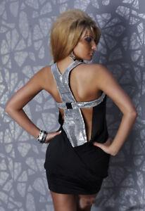 Sexy backless Dress club wear Mini Dress Sleeveless Round Neck Dress UK
