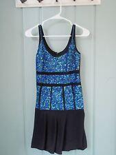 Nicole Miller Original Sample Black Bubble Dress with Blue Sequins