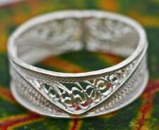 Handmade Sterling Silver .925 Small Filigree Band Ring. Size 8