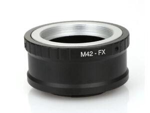 M42-FX Lens Adapter for M42 Screw Mount Lens to Fuji FX Mount Camera UK STOCK