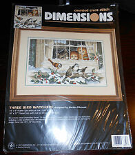 Dimensions Counted Cross Stitch kit THREE BIRD WATCHERS 3839 Kittens/Cats SEALED