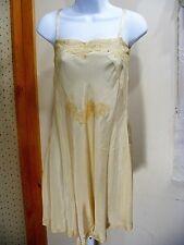 1920S SILK SLIP STEP- IN FLAPPER PETTICOAT HANDMADE LACE  VINTAGE LINGERIE SM