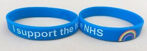 NHS Charity Wristbands, Rainbow, Support the NHS, Silicone Bracelet