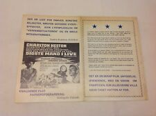 The Omega Man Charlton Heston Anthony Zerbe Vtg 1971 Danish Movie Press Release