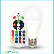 V-TAC LAMPADINA LED CON TELECOMANDO CAMBIA COLORE BIANCO RGB MULTICOLOR 6WATT