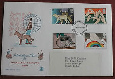 GB FDC INTERNATIONAL YEAR FOR DISABLED PEOPLE 1981 FC 262