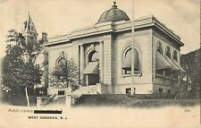 A View Of The Public Library, West Hoboken, Union Hill, New Jersey NJ 1908