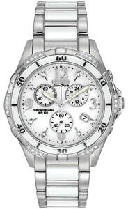 NEW Citizen Chandler FB1230-50A Ladies 40mm Chronograph Watch MSRP$695