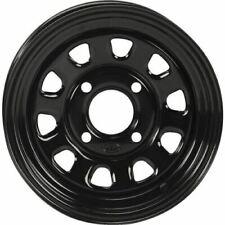 New listing Black 12x7, 4/110, 5+2 Itp Delta Steel Wheel - D12F511