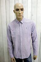 Camicia TOMMY HILFIGER Uomo Taglia L Cotone Shirt Chemise Casual Manica Lunga