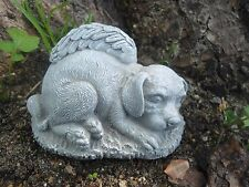 """Latex w/Plastic backup dog angel Mold For Plaster and Concrete 4""""L x 2.75""""H"""