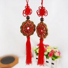Chinese Traditional Feng Shui Fortune Coin Tassel Wealth Good Luck Prospe Dyqq