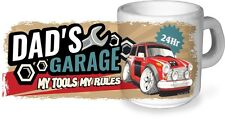 Koolart Dad's Garage My Tools My Rules Keramik Becher & Mini Cooper S Pic