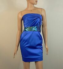 Julian Joyce by Mandalay Blue Sequin Embellished Dress Size 2 NWT $380