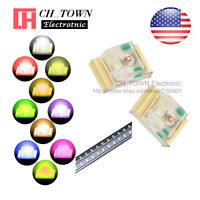 10 Lights 200PCS 0805 (2012) SMD SMT LED Diodes White Red Orange Purple Mix Kits